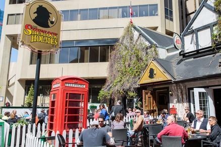 Sherlock Holmes Edmonton Patio