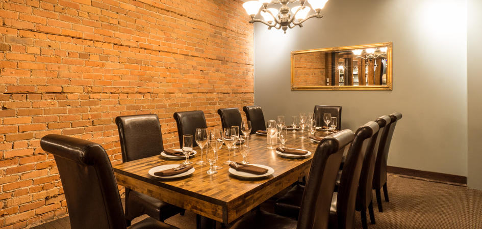 Sabor restaurant edmonton tourism for Best private dining rooms edmonton