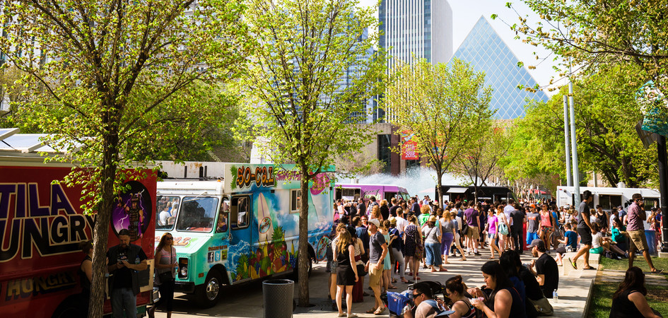 Food Trucks Downtown Edmonton